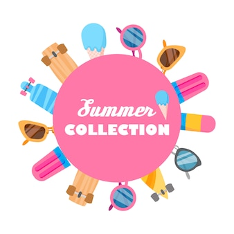 オブジェクトの夏のコレクション。