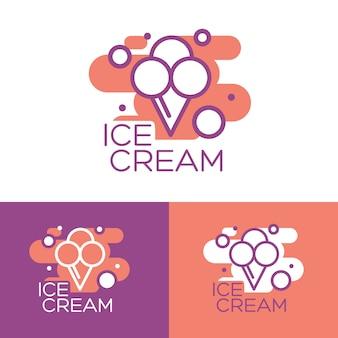 アイスクリームのイラスト。アイスクリームサンデー背景。アイスクリーム。