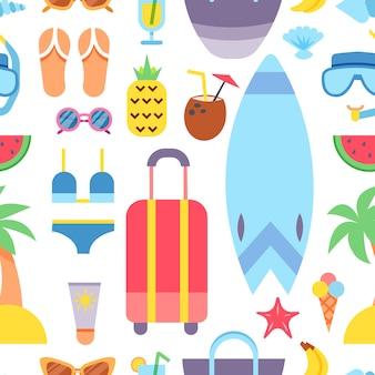 世界旅行。夏休みを計画する。夏休み。観光と休暇のテーマ。