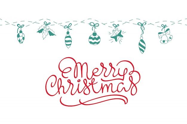 メリークリスマスの背景。カード、招待状のための完璧な装飾要素