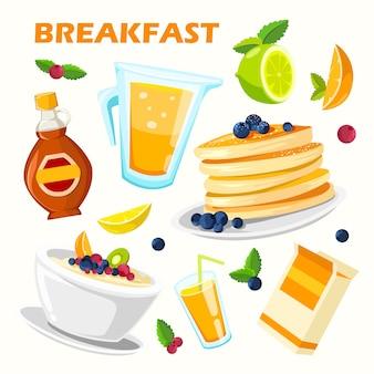 Классический плакат меню завтрака