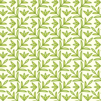シームレスなパターン、手描きのかわいい昆虫、花、葉