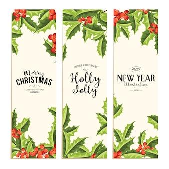 ホリージョリー - クリスマスの背景。