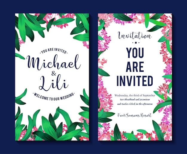 Красивые цветочные баннеры. элемент для дизайна или пригласительный билет