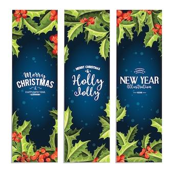 ホリージョリー - クリスマスバナーセット。
