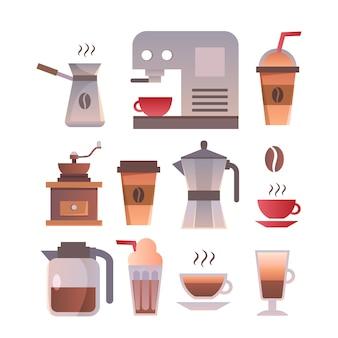 Шаблон логотипа логотипа магазина. эмблема ретро-кофе.