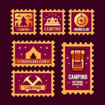 Кемпинг пустыня приключение значок графический дизайн эмблема эмблема