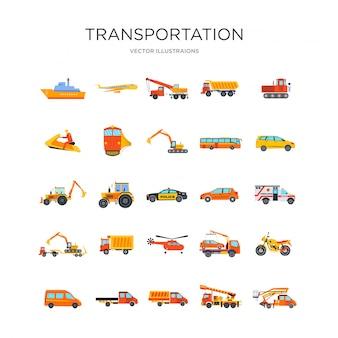 交通機関のアイコンを設定