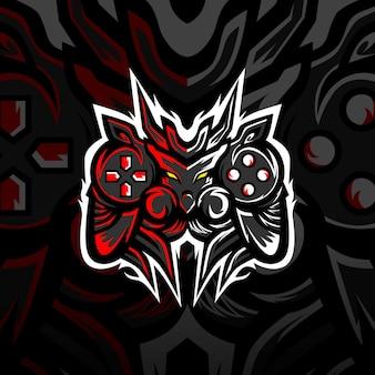 Игровые монстры логотип талисмана киберспорта