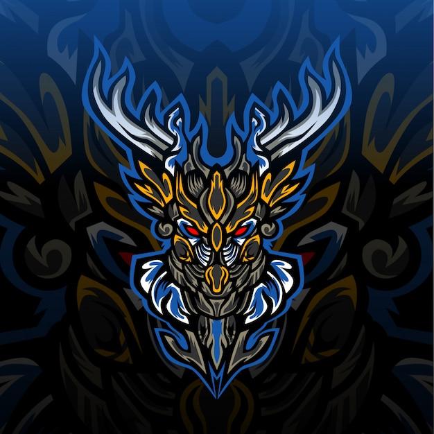Темный лесной олень охотник киберспорт логотип