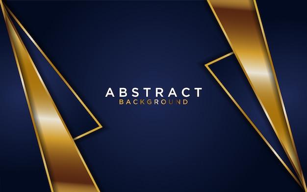 Абстрактный темно-синий фон с золотой линией