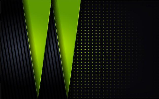 モダンなグリーンは、光沢のあるドット形状を組み合わせます
