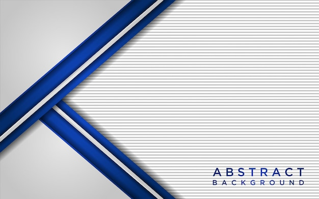 Абстрактный белый и синий фон с слоями перекрытия и текстурой линии