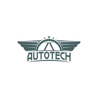 Винтажный автосервис логотип