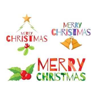 フラットスタイルのクリスマスの要素のセット