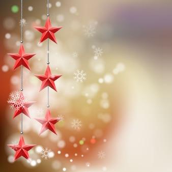 クリスマススターの背景