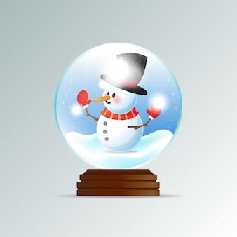 現実的なクリスマススノーグローブの背景