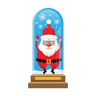 クリスマス雪球グローブの背景