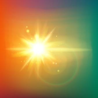 Абстрактные золотые лучи сияют