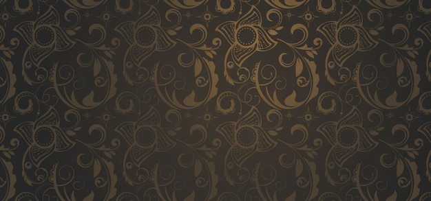 ゴシック様式の茶色のパターンバナー