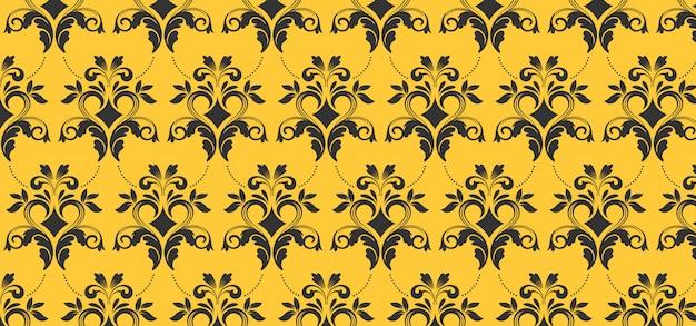 デザイン、黄色のバナーのヨーロッパのシームレスパターン