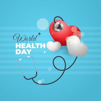 Иллюстрация всемирного дня здоровья