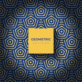 六角形の抽象的な幾何学模様の背景