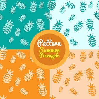 パイナップルのパターンの背景のコレクション