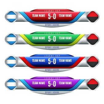 Дизайн табло для футбола и футбола