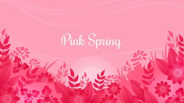 ピンクの春の花の背景