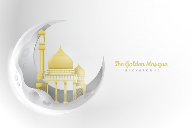 黄金のモスクの背景