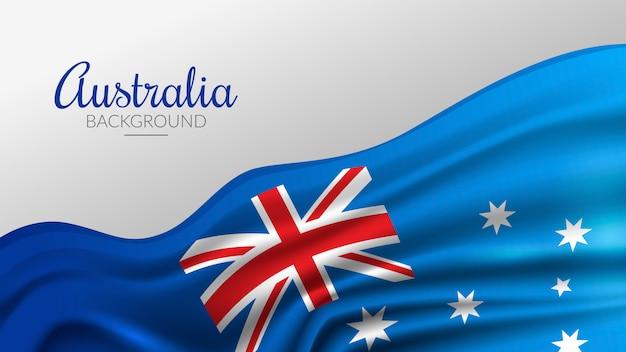 Австралийский флаг фон