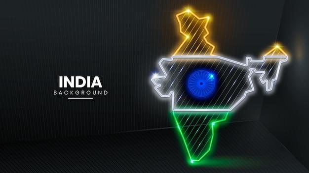 ネオンインドの背景
