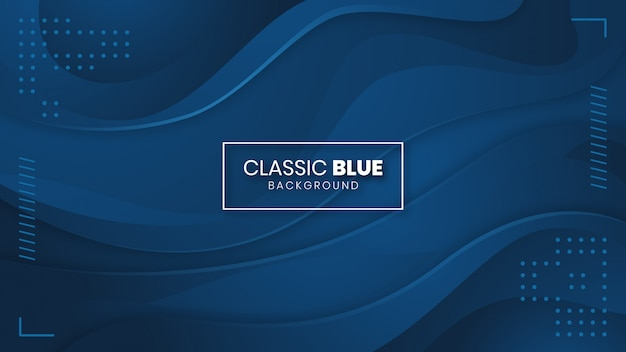 Классический синий абстрактный фон