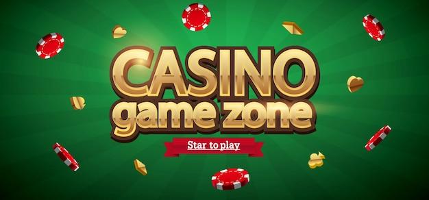 Фишки казино реалистичная тема с местом для текста