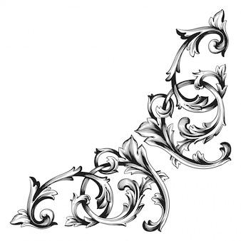Барочный цветочный декоративный уголок