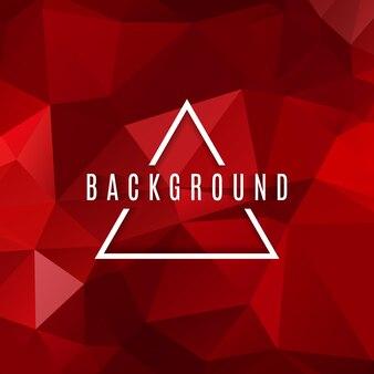 抽象的な赤色の低いポリ三角形の背景