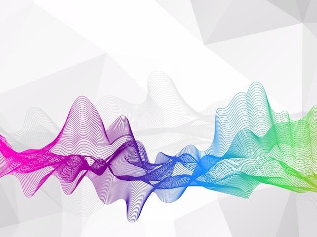 抽象的な波線のカラフルな背景