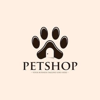 ペットショップの足のロゴ