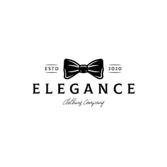 ファッション蝶ネクタイのロゴのテンプレート