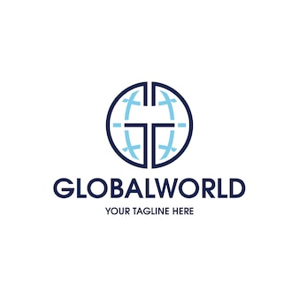 グローバル接続ロゴテンプレート