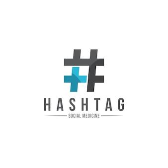 Больница хэштег логотип