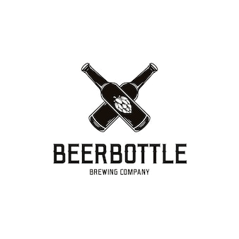 Шаблон логотипа пивной бутылки