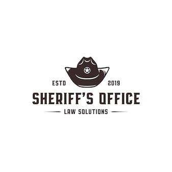 Шаблон логотипа офиса шерифа