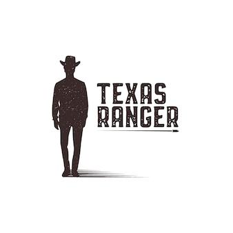 Шаблон логотипа техасский рейнджер