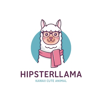 Современная лама шаблон логотипа