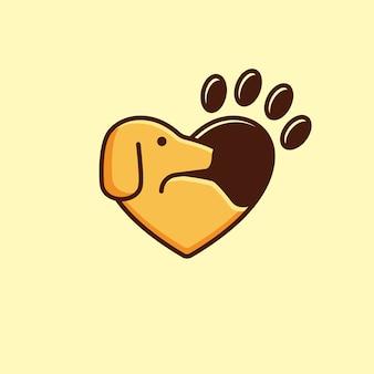 愛の動物のロゴタイプ