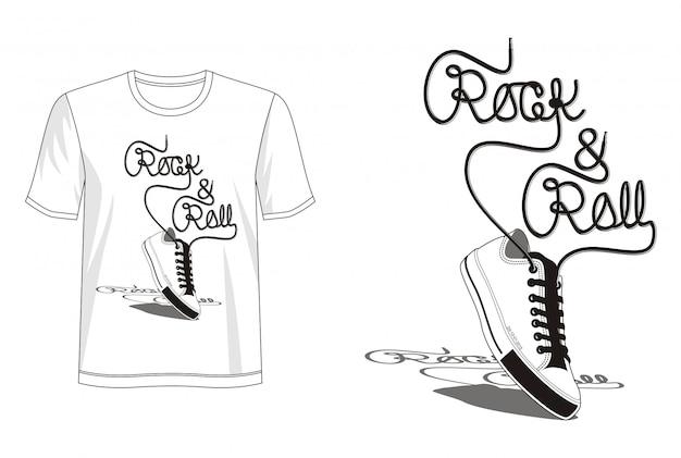 Рок-н-ролл типография для футболки
