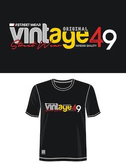 Винтаж типография для печати футболка