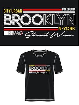 Бруклин типография дизайн футболки